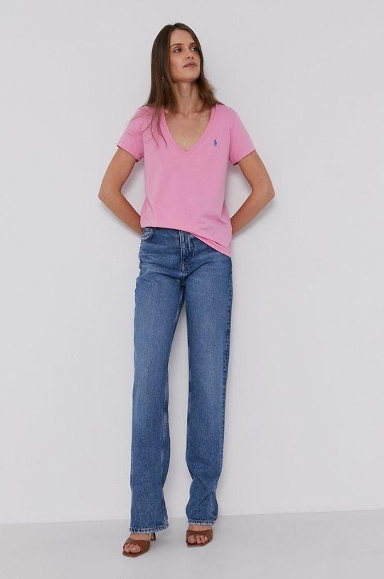 Polo Ralph Lauren - T-shirt bawełniany różowy