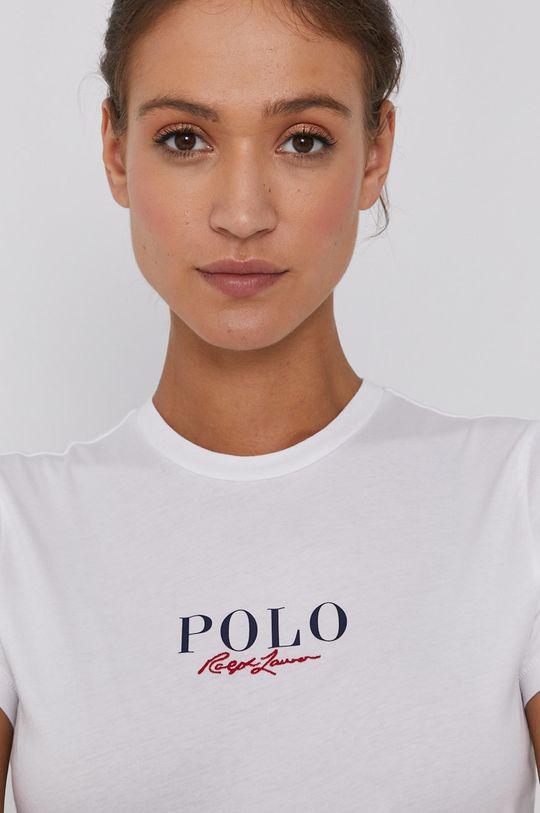 biały Polo Ralph Lauren - T-shirt bawełniany