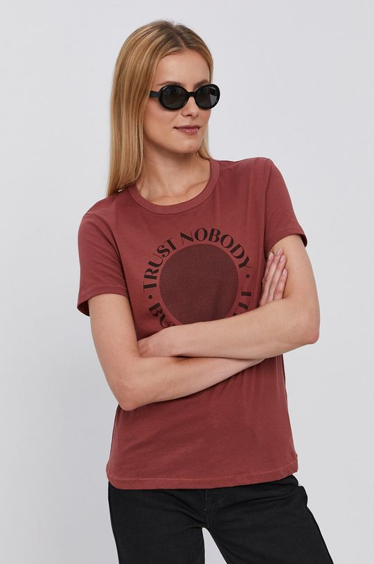 kasztanowy Jacqueline de Yong - T-shirt Damski