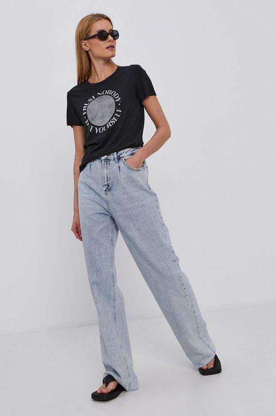 czarny Jacqueline de Yong - T-shirt Damski