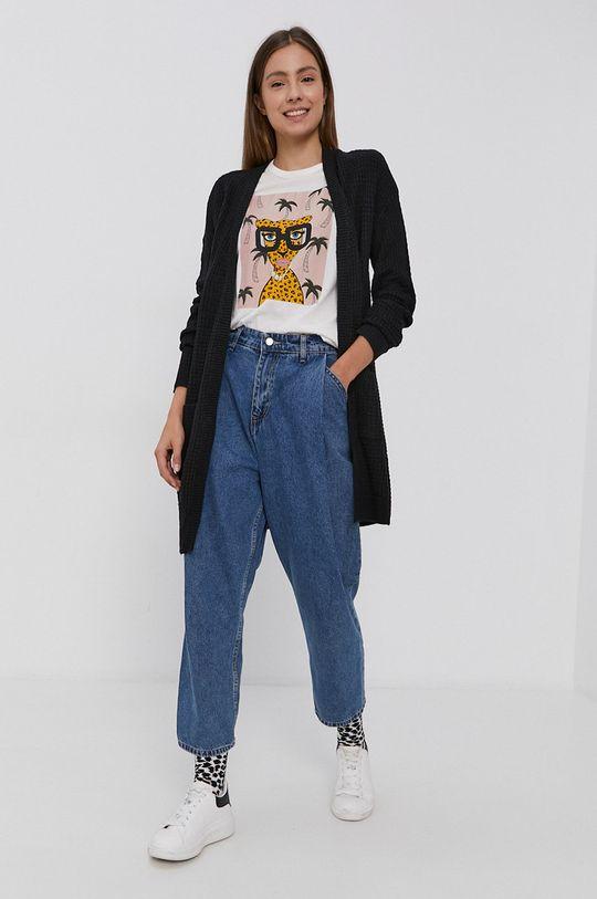 biały Jacqueline de Yong - T-shirt bawełniany