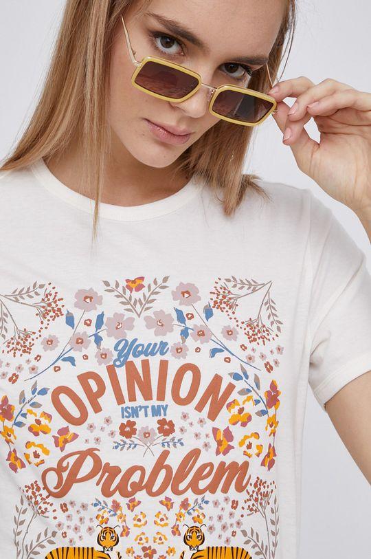smetanová Jacqueline de Yong - Bavlněné tričko