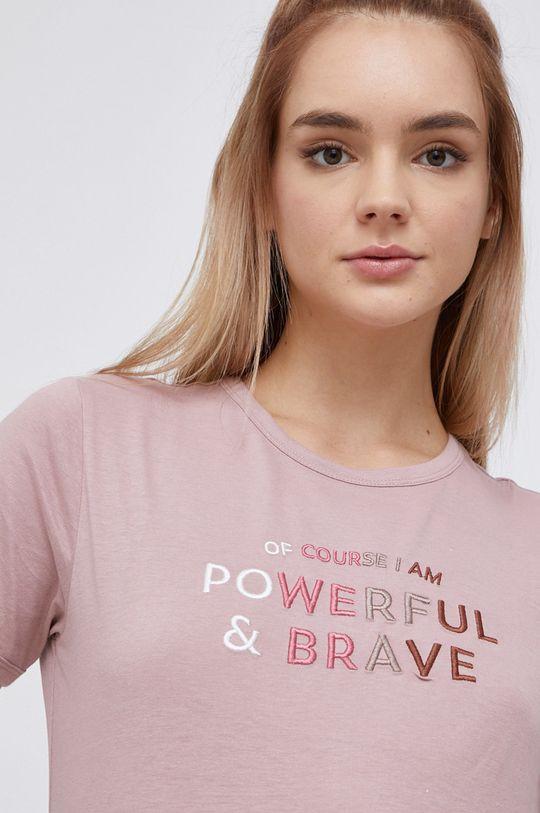 starorůžová Jacqueline de Yong - Bavlněné tričko