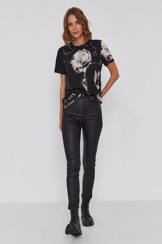 negru Desigual - Tricou din bumbac x Disney De femei