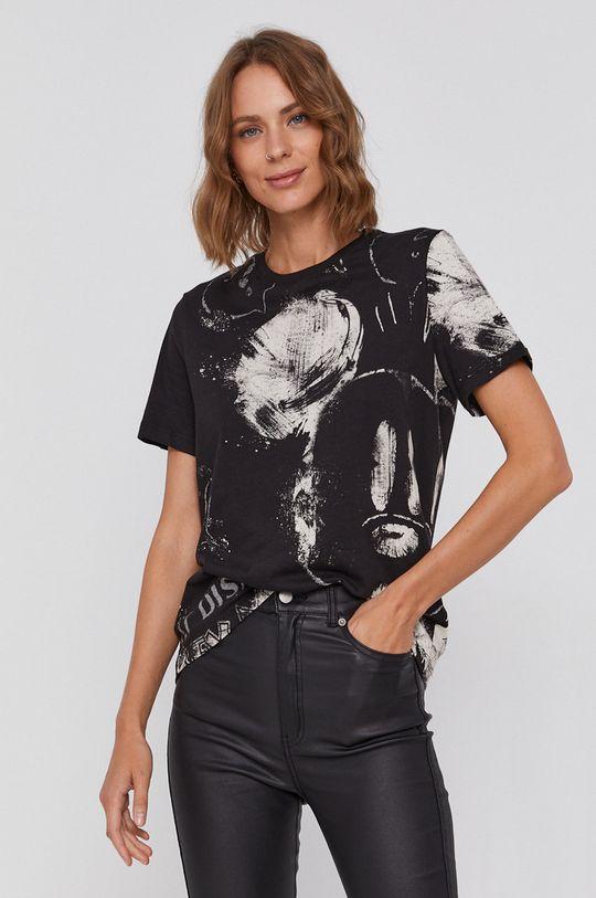 Desigual - Tricou din bumbac x Disney negru
