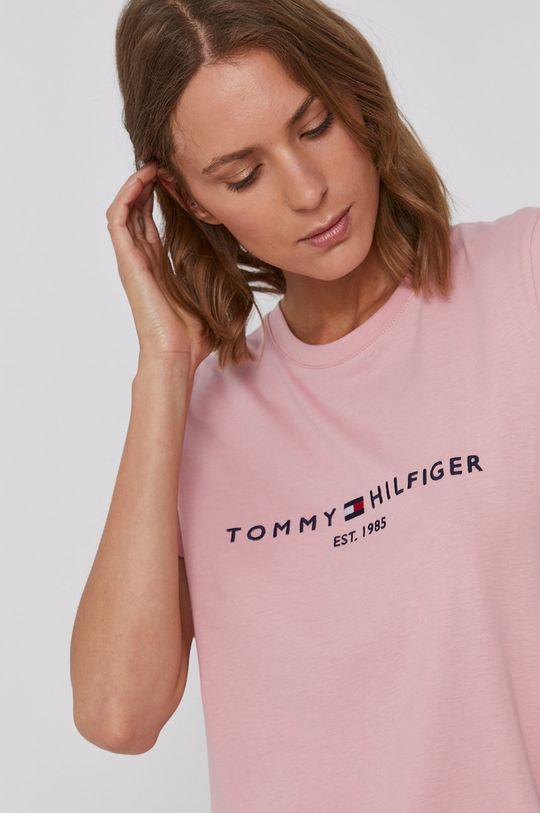 różowy Tommy Hilfiger - T-shirt