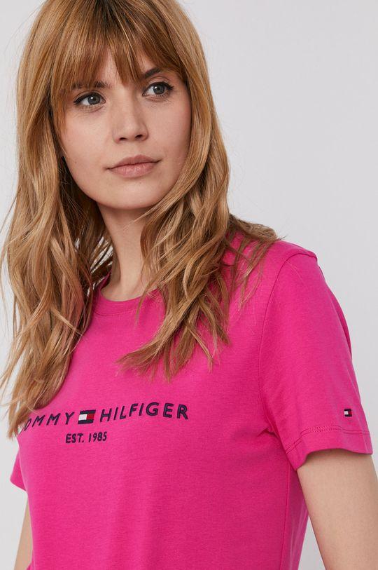 fuksja Tommy Hilfiger - T-shirt