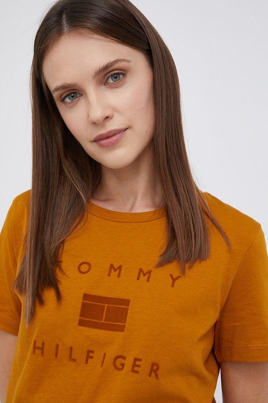 pomarańczowy Tommy Hilfiger - T-shirt bawełniany