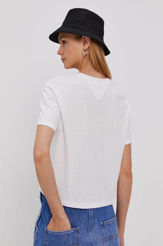 Tommy Jeans - T-shirt 50 % Poliester, 50 % Bawełna z recyklingu