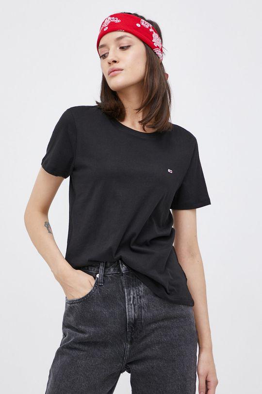 biały Tommy Jeans - T-shirt bawełniany (2-pack) Damski