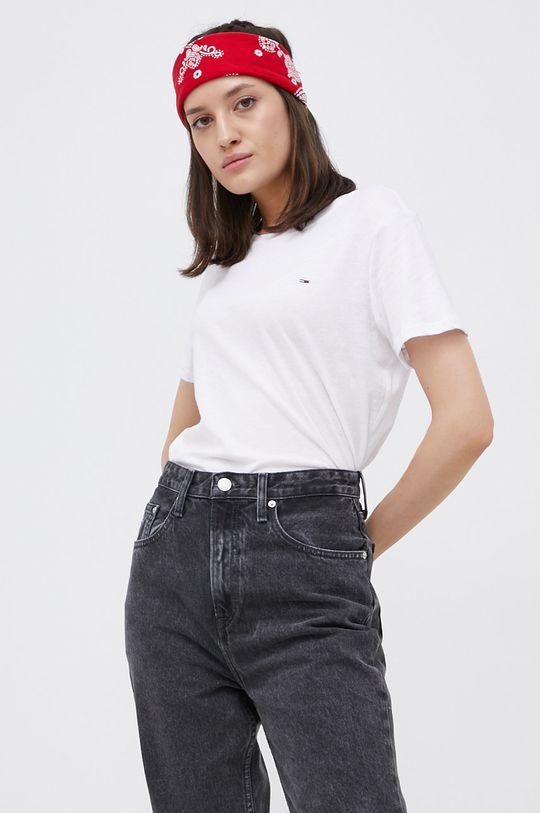 Tommy Jeans - T-shirt bawełniany (2-pack) biały