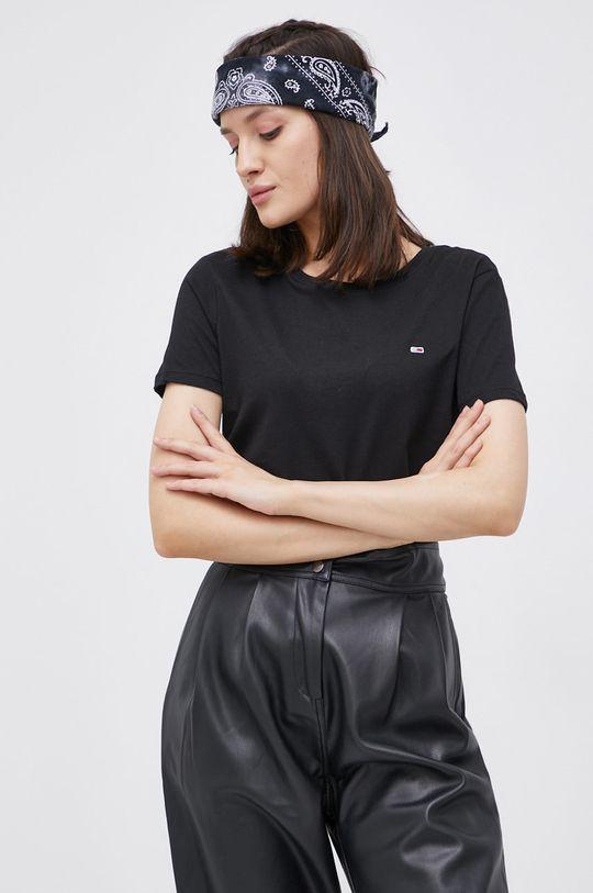 czarny Tommy Jeans - T-shirt bawełniany (2-pack) Damski