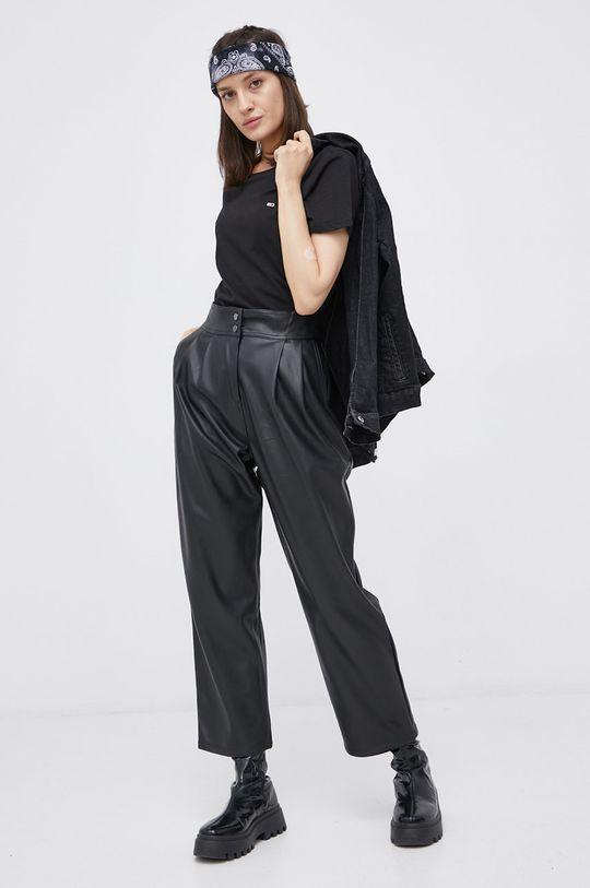 Tommy Jeans - T-shirt bawełniany (2-pack) czarny