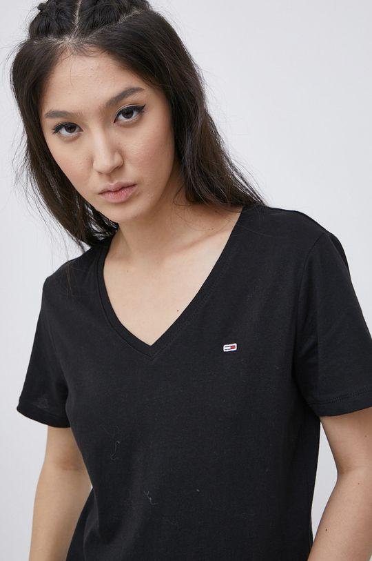 czarny Tommy Jeans - T-shirt bawełniany (2-pack)