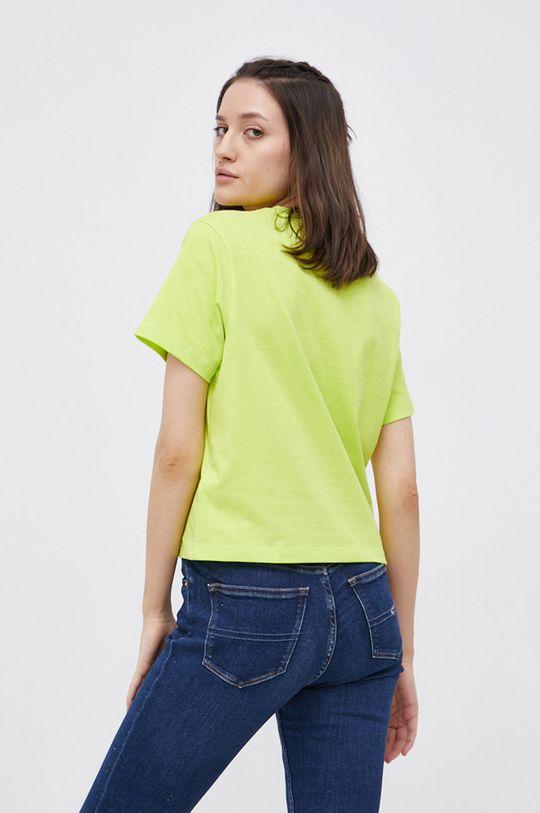 żółto - zielony Tommy Jeans - T-shirt bawełniany