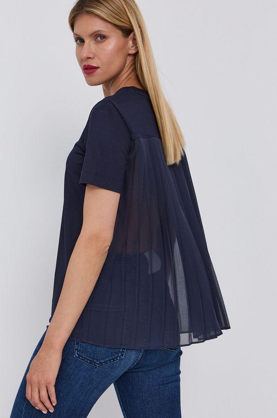 granatowy Hugo - T-shirt Damski