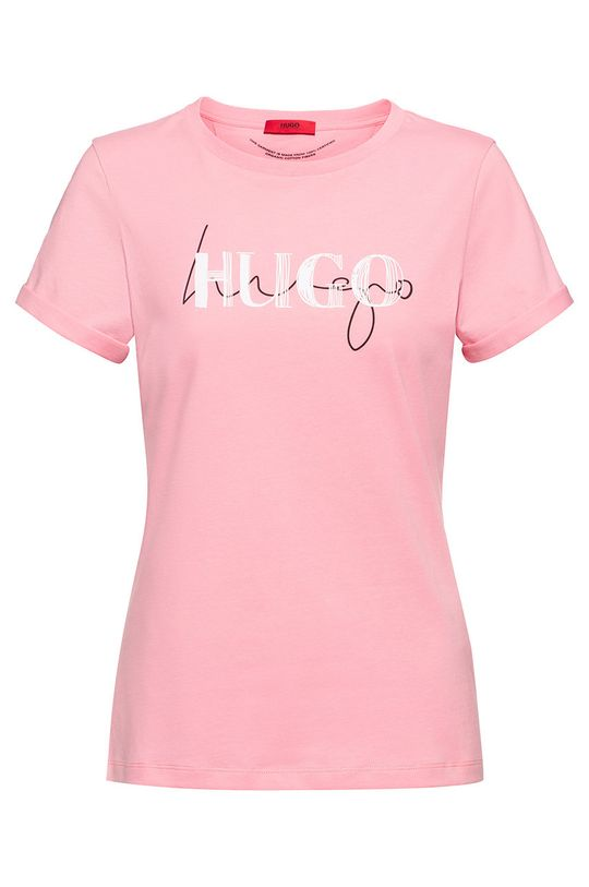 różowy Hugo - T-shirt