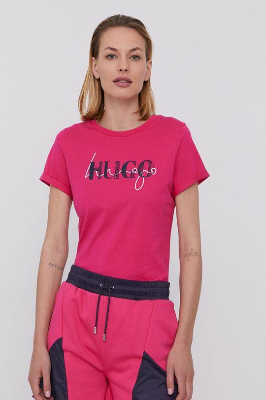 sýto ružová Hugo - Tričko Dámsky