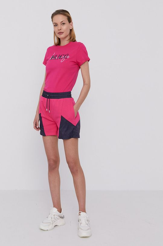 Hugo - Tričko sýto ružová
