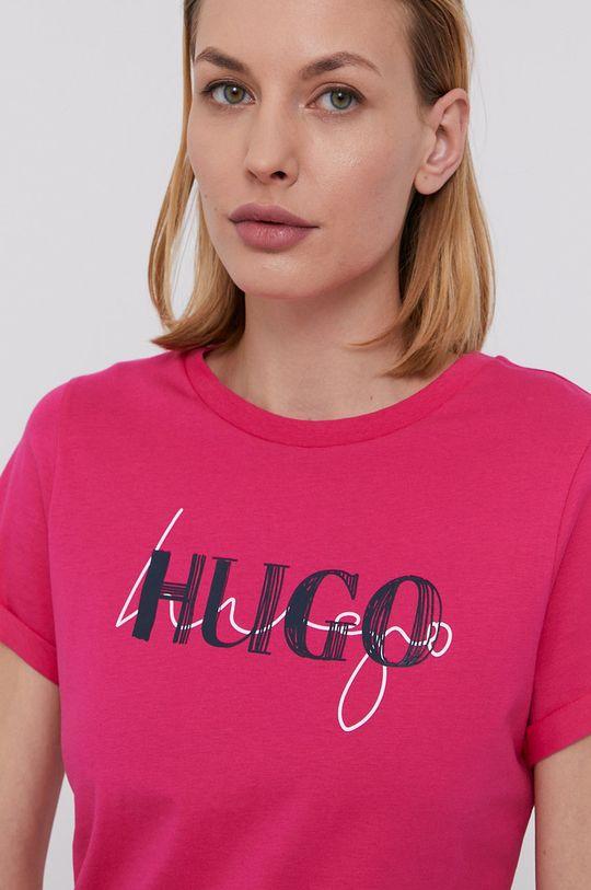 sýto ružová Hugo - Tričko