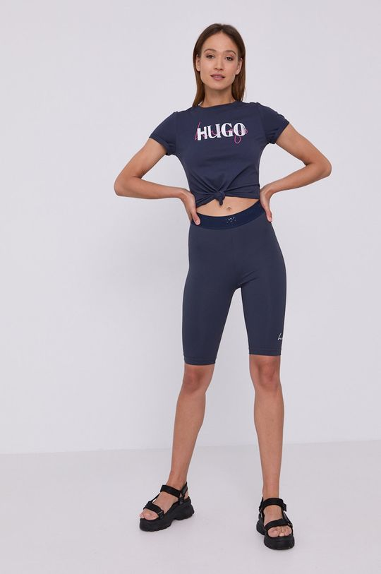 Hugo - Tričko námořnická modř