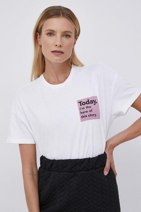 biały Only - T-shirt bawełniany Damski