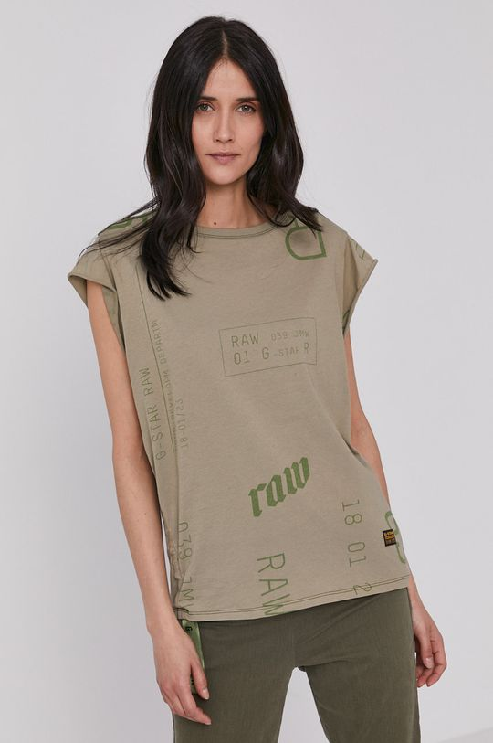 G-Star Raw - T-shirt zielony