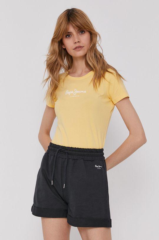 żółty Pepe Jeans - T-shirt Virginia Damski
