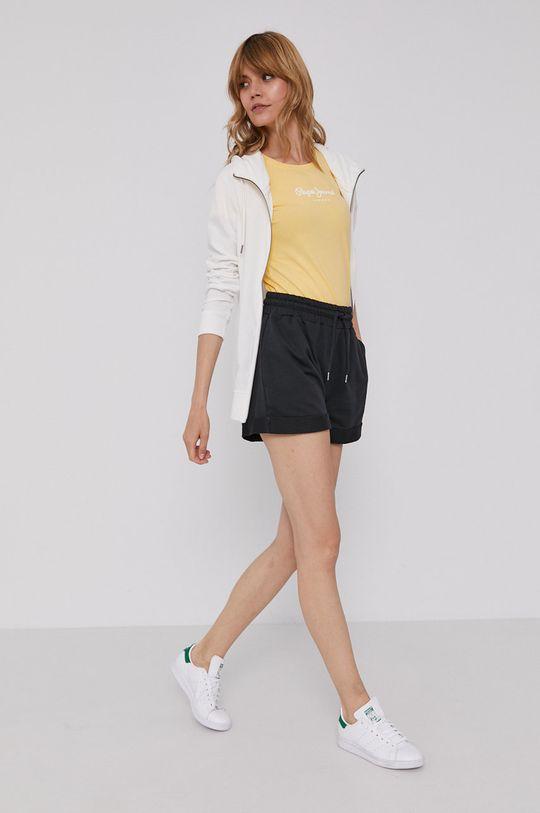 Pepe Jeans - T-shirt Virginia żółty