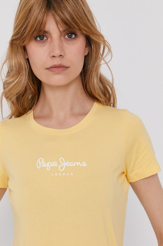 żółty Pepe Jeans - T-shirt Virginia