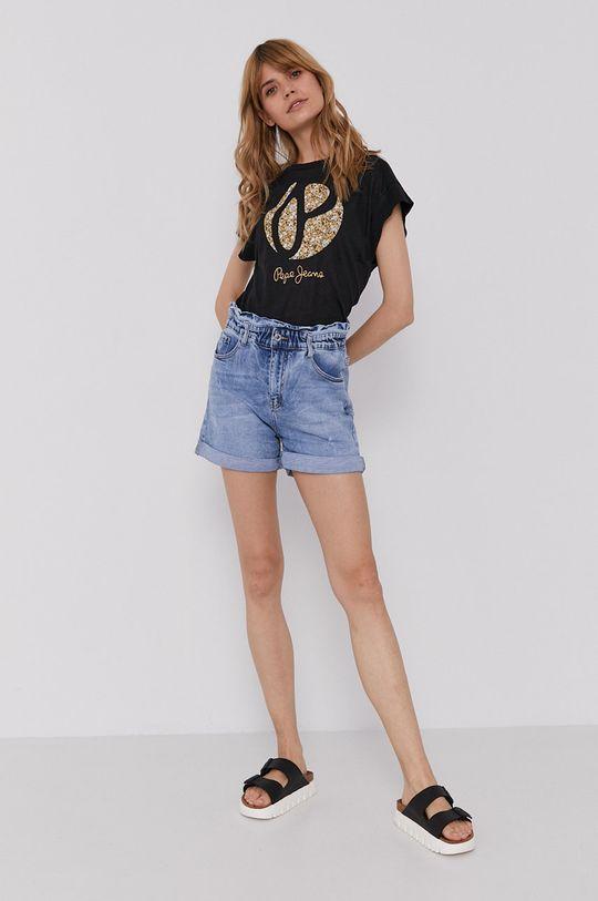 Pepe Jeans - T-shirt Alice czarny