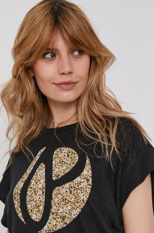czarny Pepe Jeans - T-shirt Alice