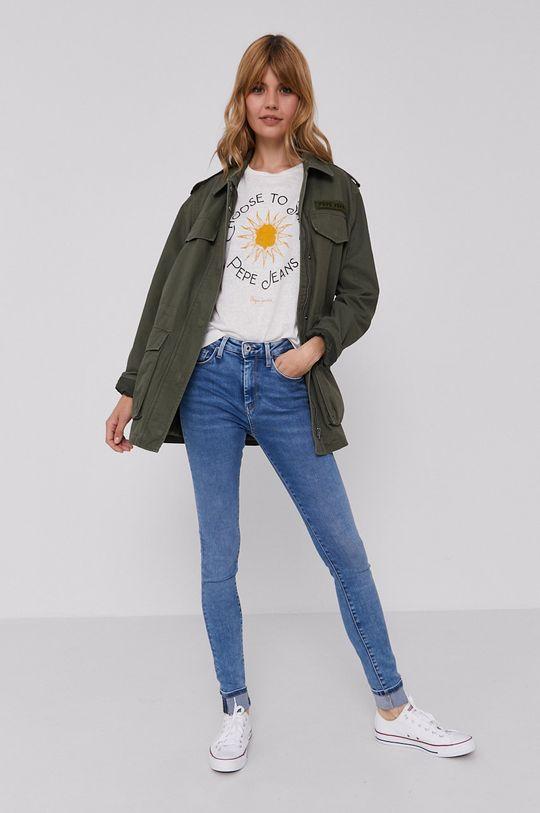 Pepe Jeans - Tričko Astrid krémová