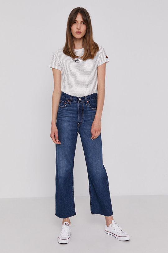 Pepe Jeans - Tričko MAHSA bílá