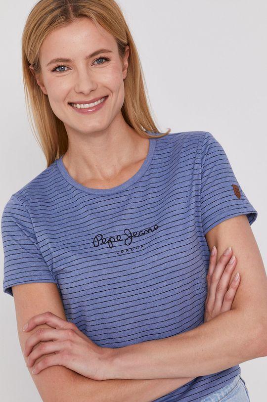 fioletowy Pepe Jeans - T-shirt Mahsa Damski