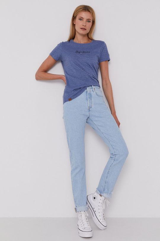 Pepe Jeans - T-shirt Mahsa fioletowy
