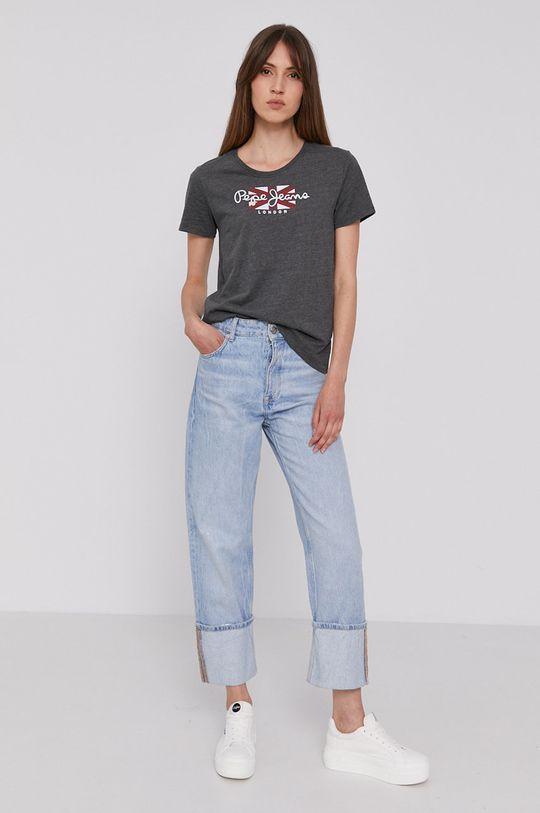 Pepe Jeans - Tričko ZAIDAS šedá