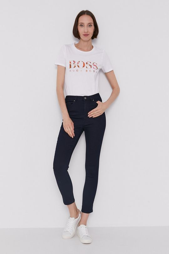 Boss - T-shirt biały