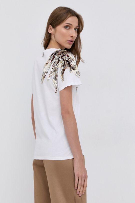 biały Patrizia Pepe - T-shirt bawełniany
