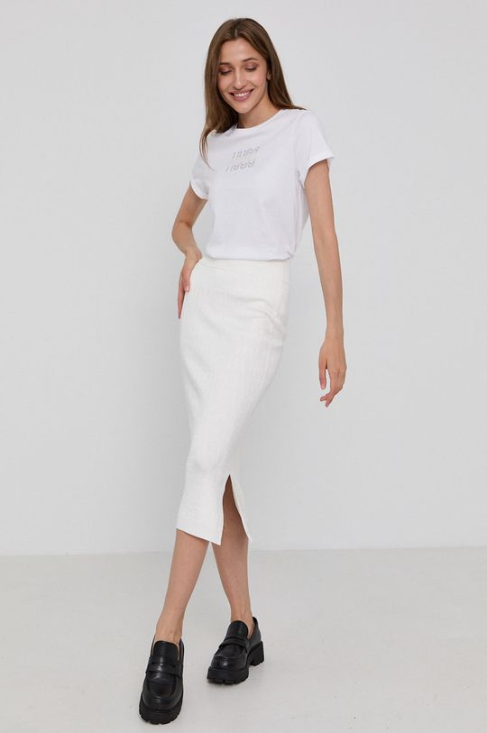 Hugo - T-shirt bawełniany biały