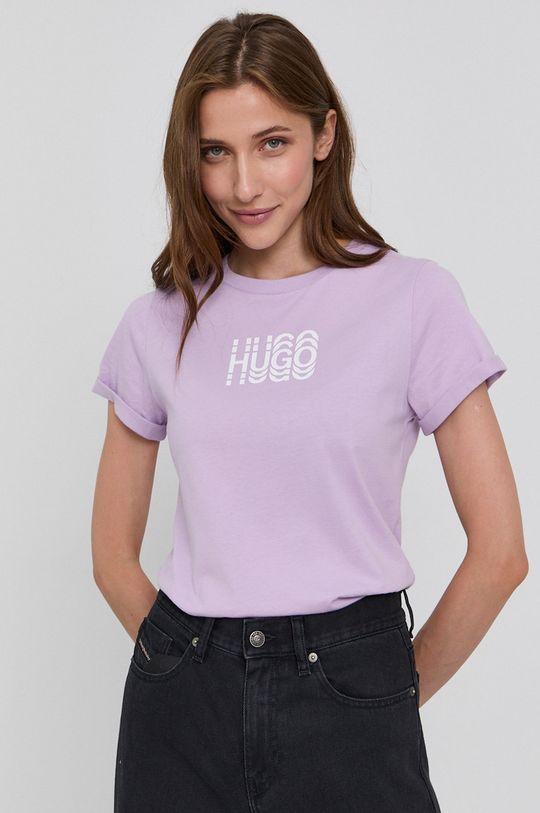 levanduľová Hugo - Bavlnené tričko Dámsky