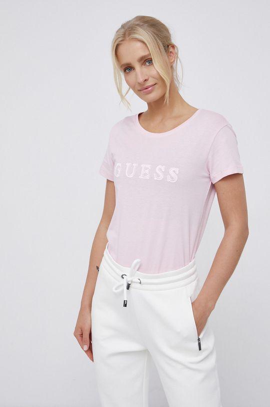 roz Guess - Tricou din bumbac