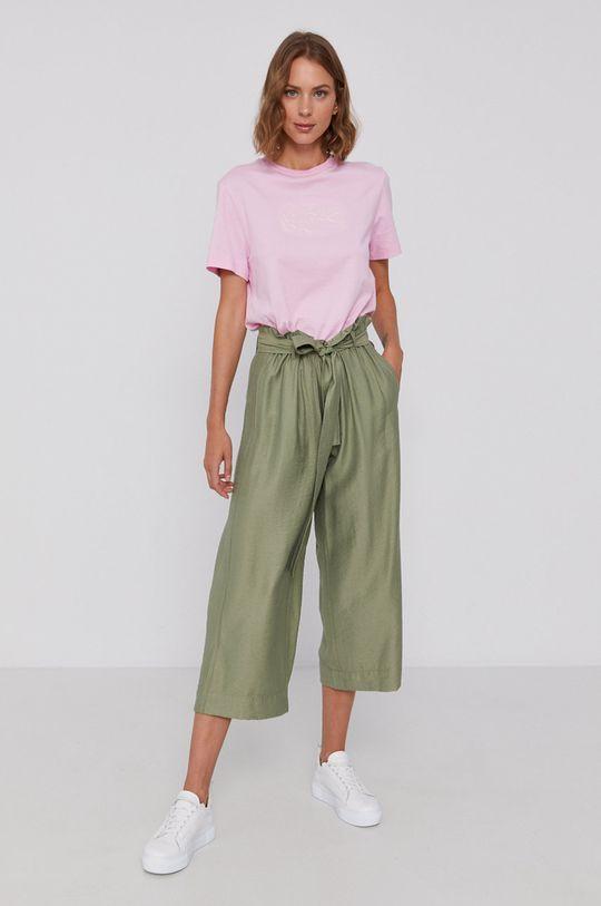 Lacoste - Bavlnené tričko ružová