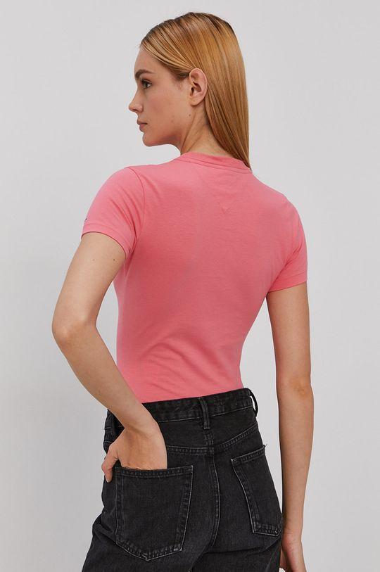 Tommy Jeans - T-shirt 45 % Bawełna, 5 % Elastan, 50 % Bawełna organiczna