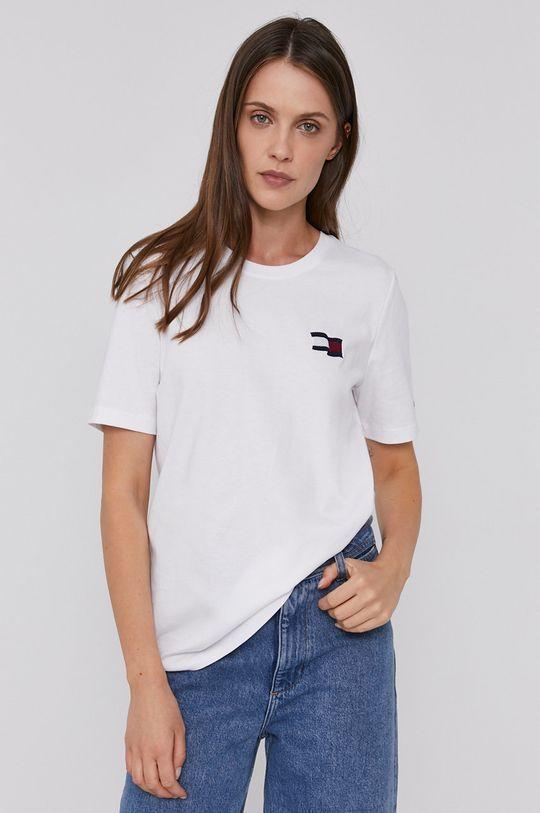 bílá Tommy Hilfiger - Bavlněné tričko Dámský