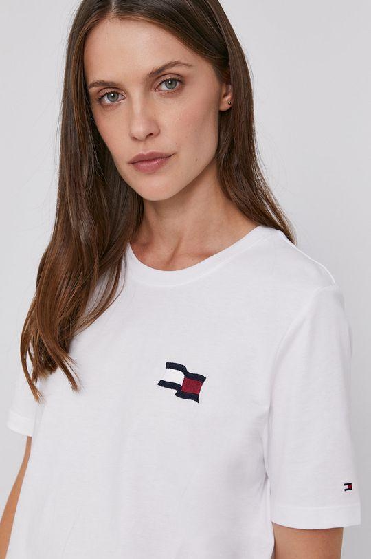 bílá Tommy Hilfiger - Bavlněné tričko