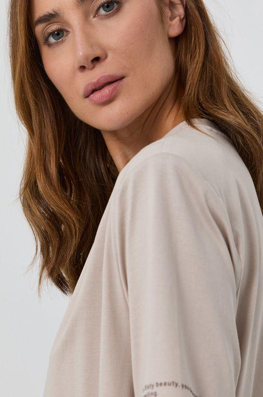 beżowy Miss Sixty - T-shirt bawełniany