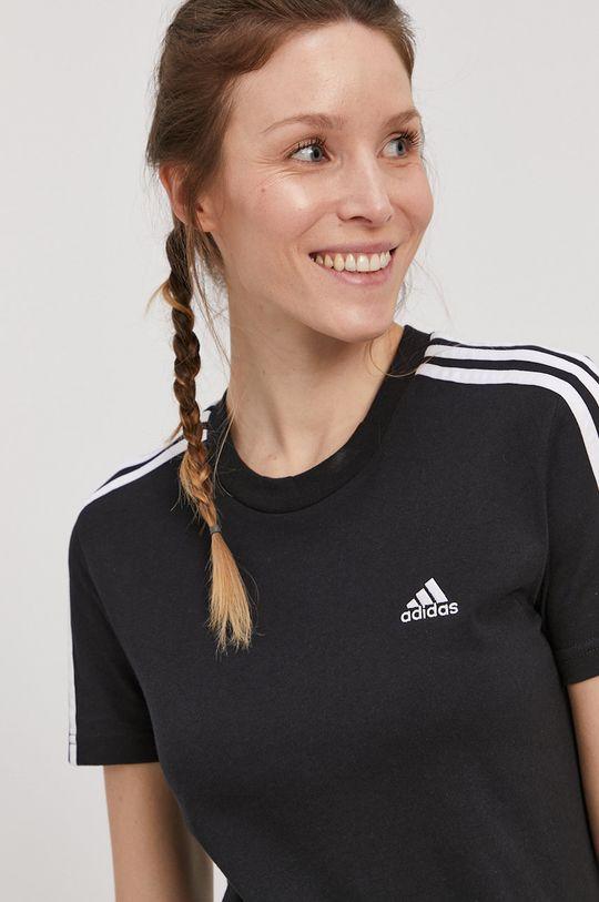 čierna adidas - Tričko Dámsky