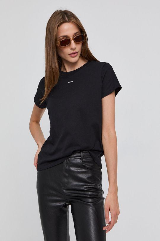 czarny Pinko - T-shirt Damski