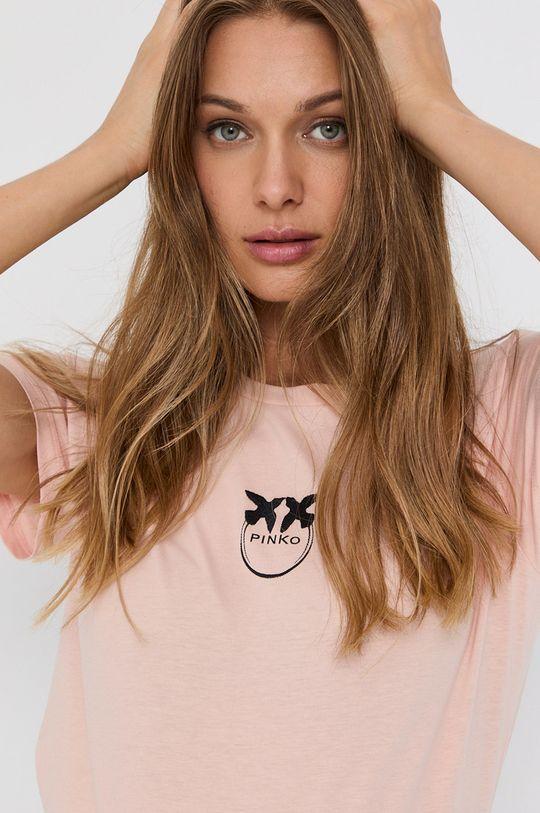 różowy Pinko - T-shirt